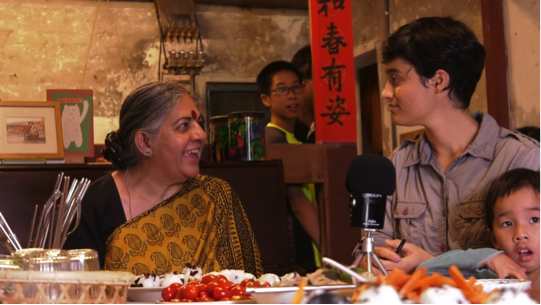 Joelle with Vandana Shiva