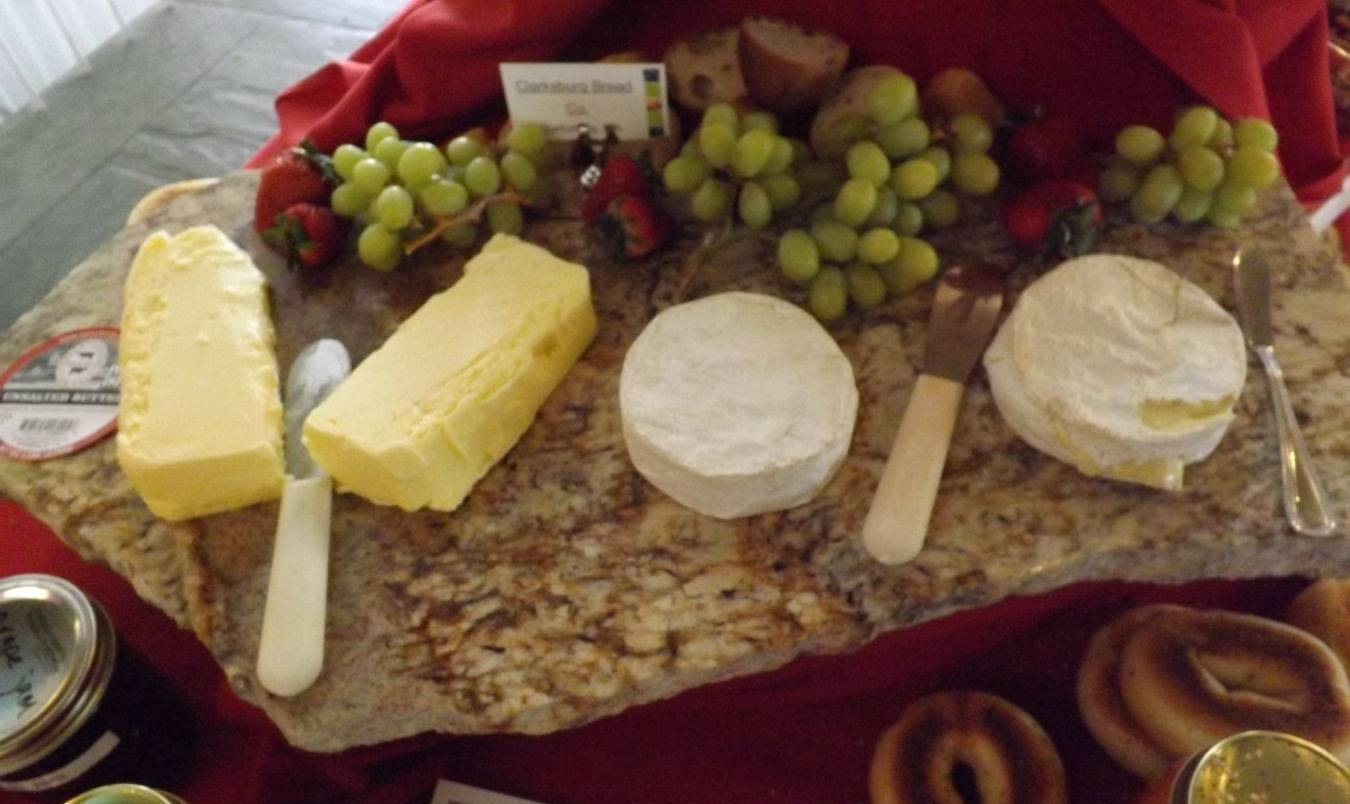 Cheeses from local farms.