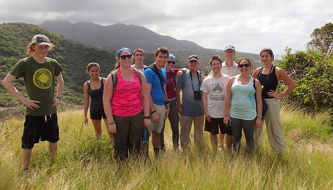 Group of students studying abroad in Montserrat
