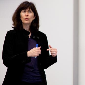 Professor Mileta Roe in the classroom.