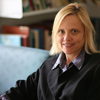 Professor Anne O'Dwyer in her office.