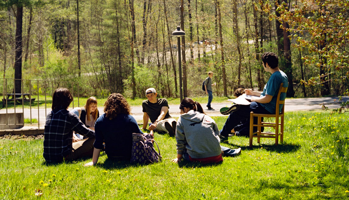 Outdoor class in springtime