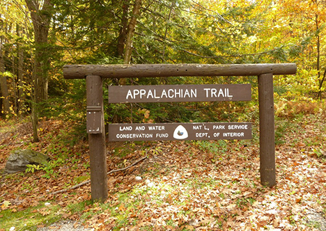 Access point to Appalachian Trail near Simon's Rock