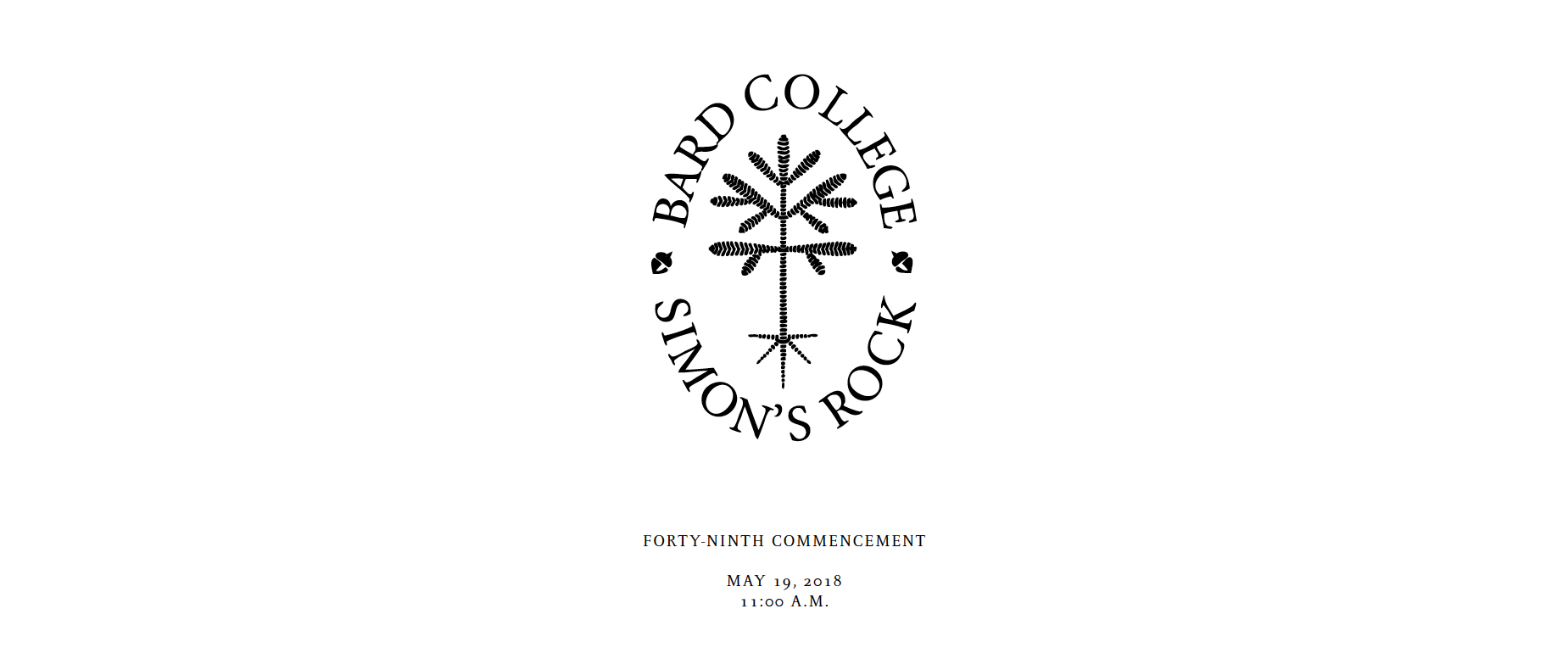 2018 Commencement Program Cover