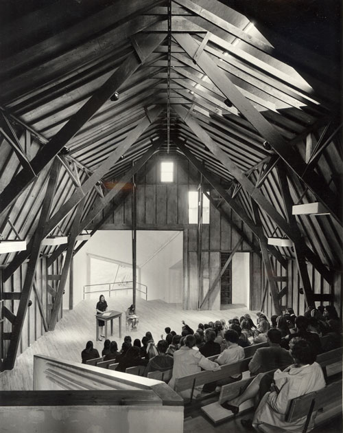 ARC theater interior on the Simon's Rock campus, 1966